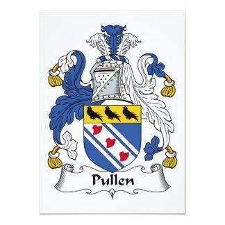 """Escudo de la familia de Pullen Invitación 5"""" X 7"""""""
