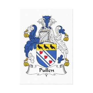 Escudo de la familia de Pullen Lona Envuelta Para Galerías