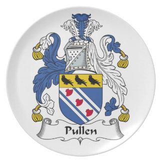 Escudo de la familia de Pullen Platos Para Fiestas