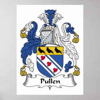 Escudo de la familia de Pullen Póster