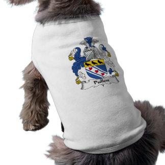 Escudo de la familia de Pullen Playera Sin Mangas Para Perro
