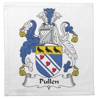 Escudo de la familia de Pullen Servilletas De Papel