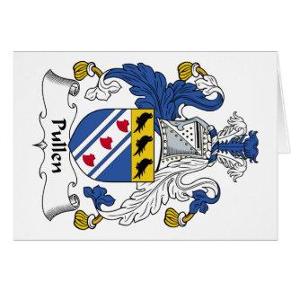 Escudo de la familia de Pullen Tarjeta De Felicitación