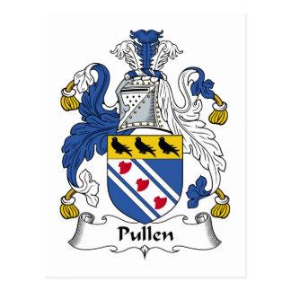 Escudo de la familia de Pullen Tarjetas Postales