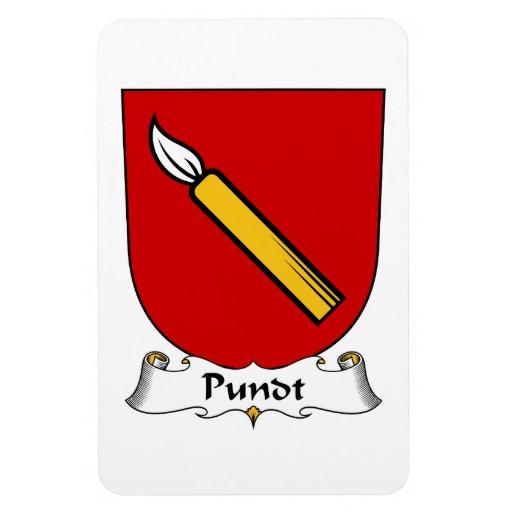 Escudo de la familia de Pundt Iman De Vinilo