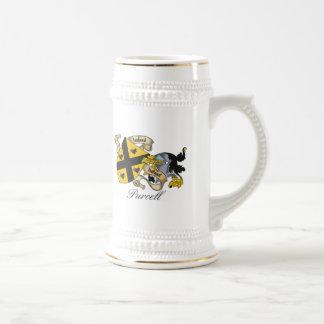Escudo de la familia de Purcell Jarra De Cerveza