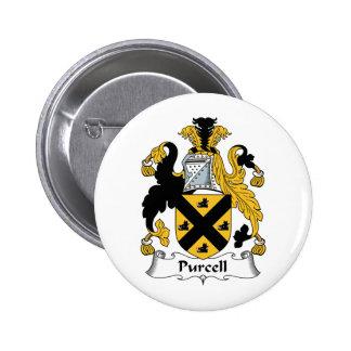 Escudo de la familia de Purcell Pin Redondo De 2 Pulgadas