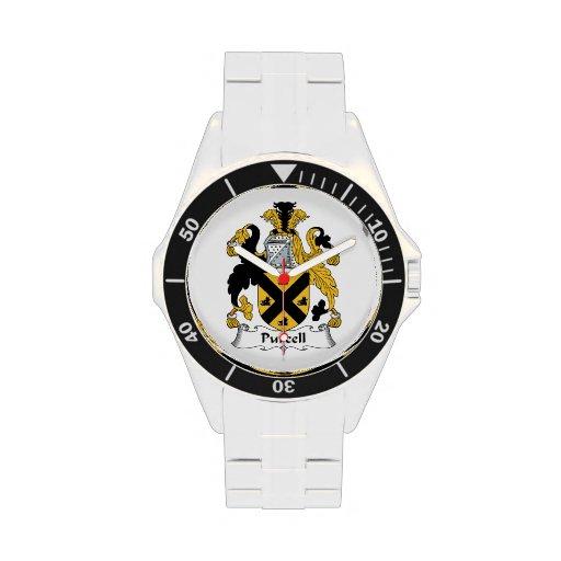 Escudo de la familia de Purcell Reloj