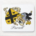Escudo de la familia de Purcell Tapete De Ratón