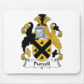 Escudo de la familia de Purcell Tapetes De Ratones