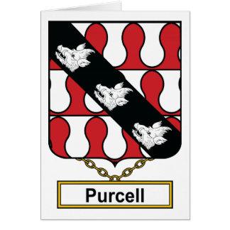 Escudo de la familia de Purcell Tarjeta De Felicitación