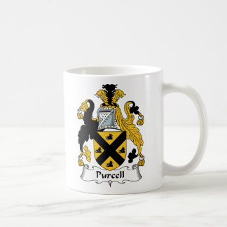 Escudo de la familia de Purcell Taza Básica Blanca