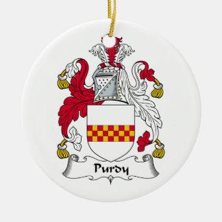 Escudo de la familia de Purdy Ornamentos De Reyes Magos