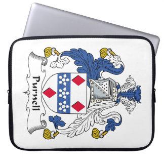 Escudo de la familia de Purnell Fundas Ordendadores