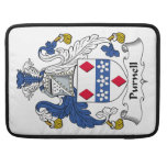 Escudo de la familia de Purnell Funda Para Macbooks