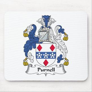 Escudo de la familia de Purnell Tapetes De Ratón