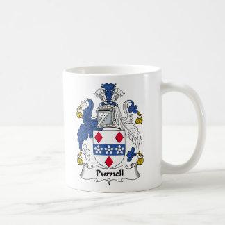 Escudo de la familia de Purnell Tazas De Café