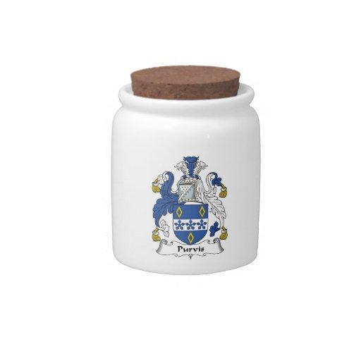 Escudo de la familia de Purvis Platos Para Caramelos