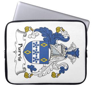 Escudo de la familia de Purvis Funda Ordendadores