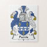 Escudo de la familia de Purvis Puzzles Con Fotos