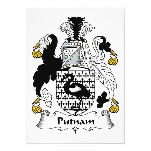 Escudo de la familia de Putnam Comunicado Personalizado