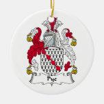 Escudo de la familia de Pye Ornaments Para Arbol De Navidad
