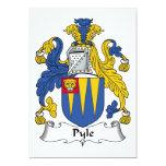 Escudo de la familia de Pyle Invitación 12,7 X 17,8 Cm