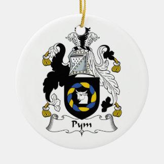 Escudo de la familia de Pym Ornamentos De Navidad