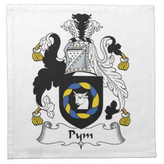 Escudo de la familia de Pym Servilletas De Papel