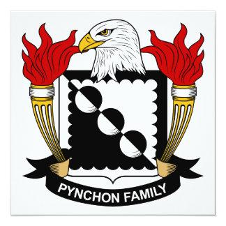 """Escudo de la familia de Pynchon Invitación 5.25"""" X 5.25"""""""