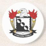 Escudo de la familia de Pynchon Posavasos Personalizados