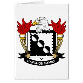 Escudo de la familia de Pynchon Tarjeta De Felicitación
