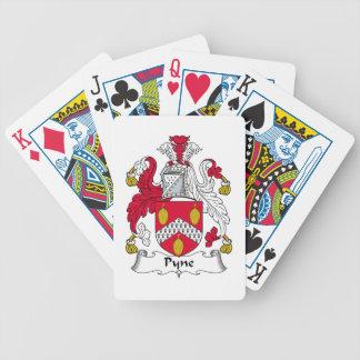 Escudo de la familia de Pyne Baraja Cartas De Poker