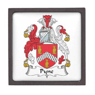 Escudo de la familia de Pyne Cajas De Recuerdo De Calidad