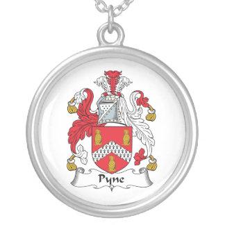 Escudo de la familia de Pyne Colgante Redondo