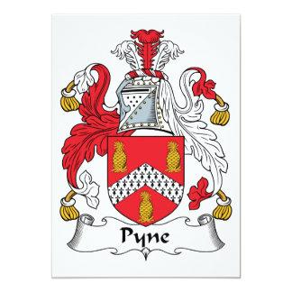 """Escudo de la familia de Pyne Invitación 5"""" X 7"""""""