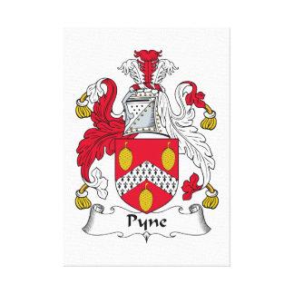 Escudo de la familia de Pyne Impresiones En Lona Estiradas