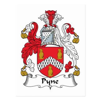 Escudo de la familia de Pyne Postales
