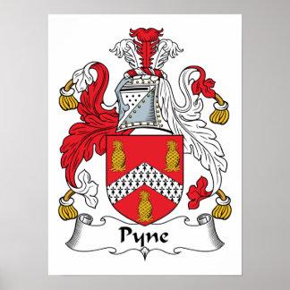 Escudo de la familia de Pyne Póster