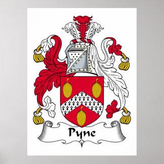 Escudo de la familia de Pyne Poster