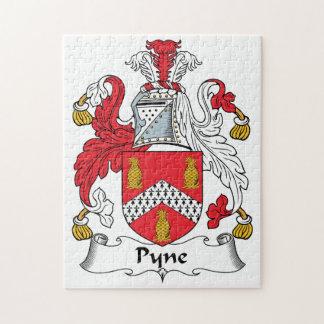 Escudo de la familia de Pyne Rompecabezas Con Fotos