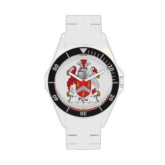 Escudo de la familia de Pyne Reloj De Mano