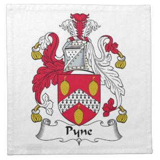 Escudo de la familia de Pyne Servilleta