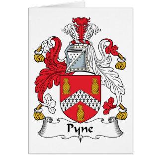 Escudo de la familia de Pyne Tarjeta De Felicitación