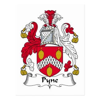 Escudo de la familia de Pyne Tarjetas Postales