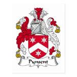 Escudo de la familia de Pynsent Tarjeta Postal