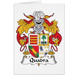 Escudo de la familia de Quadra Tarjetas