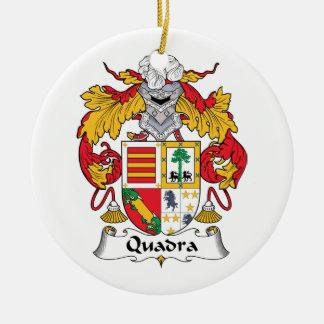 Escudo de la familia de Quadra Ornato