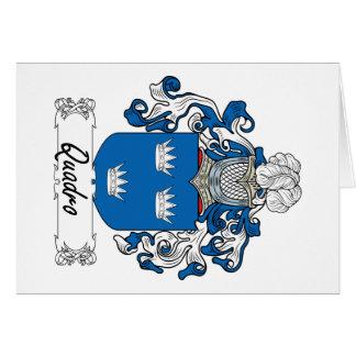 Escudo de la familia de Quadro Tarjetas