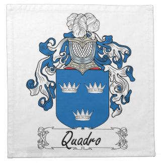 Escudo de la familia de Quadro Servilleta Imprimida